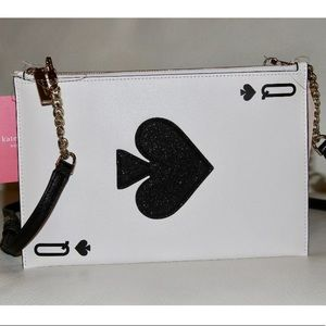 KATE SPADE LUCKY DRAW CARD LEATHER CROSSBODY NWT